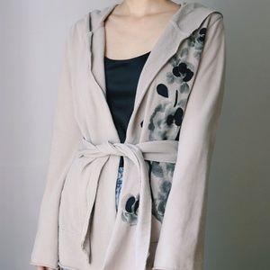 100% Cotton Camel/Taupe Cardigan/Coat